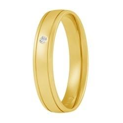 Aller Spanninga trouwring model 110 met 0,01crt diamant