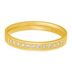 Aller Spanninga trouwring model 124 met 0,12crt diamant