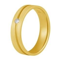 Aller Spanninga trouwring model 128 met 0,04crt diamant
