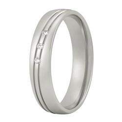 Aller Spanninga trouwring model 139 met 0,045crt diamant