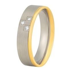 Aller Spanninga trouwring model 146 met 0,03crt diamant