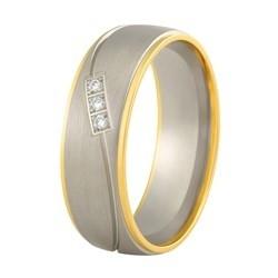 Aller Spanninga trouwring model 147 met 0,03crt diamant