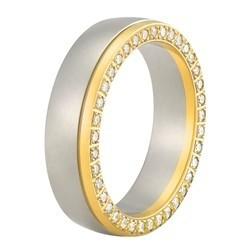 Aller Spanninga trouwring model 158 met 0.4crt diamant