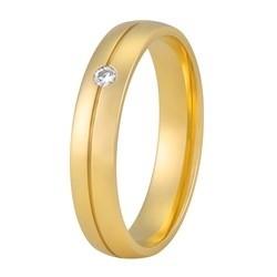 Aller Spanninga trouwring model 165 met 0.03crt diamant