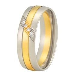 Aller Spanninga trouwring model 152 met 0.04crt diamant
