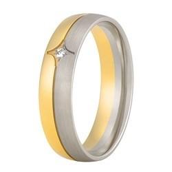 Aller Spanninga trouwring model 192 met 0.02crt diamant