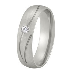 Aller Spanninga trouwring model 170 met 0.05crt diamant