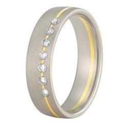 Aller Spanninga trouwring model 174 met 0.14crt diamant