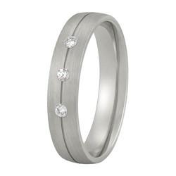 Aller Spanninga trouwring model 175 met 0.05crt diamant