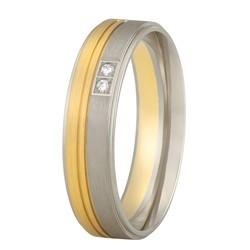 Aller Spanninga trouwring model 176 met 0.02crt diamant