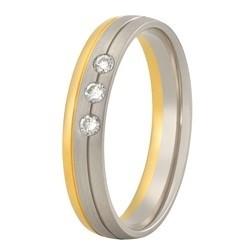 Aller Spanninga trouwring model 178 met 0.06crt diamant