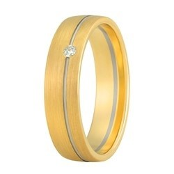 Aller Spanninga trouwring model 179 met 0.02crt diamant