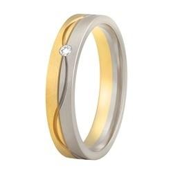 Aller Spanninga trouwring model 181 met 0.02crt diamant