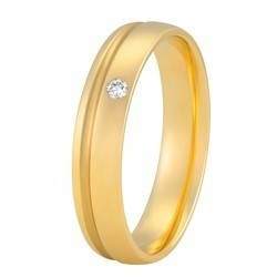 Aller Spanninga trouwring model 182 met 0.02crt diamant