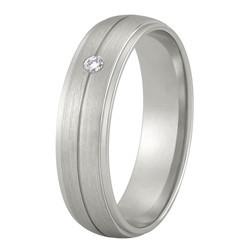 Aller Spanninga trouwring model 183 met 0.02crt diamant