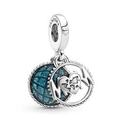 PANDORA Mum with glitterly blue enamel 799368C01