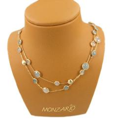 MONZARIO 14krt geelgouden fantasie collier 1027C