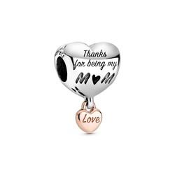 PANDORA Heart charm with rose 788830C00