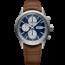 Raymond Weil Raymond Weil Freelancer 7732-TIC-50421, chronograaf automaat, heren staal/leer bruin, blauwe wijzerplaat, 10 ATM.