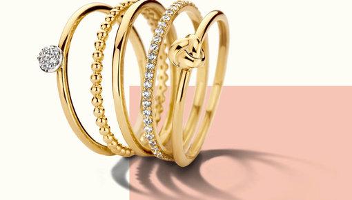 Blush gouden sieraden en juwelen