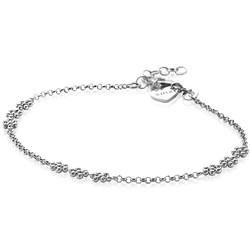 ZINZI Zilveren armband met 3x bloemetjes ZIA2183