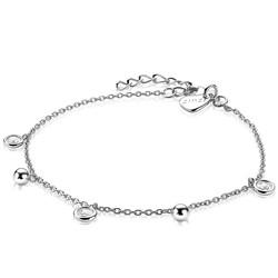 ZINZI Zilveren armband bolletjes/zirconia's ZIA2192