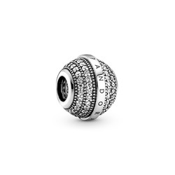 PANDORA 799489C01 Logo sterling silver charm