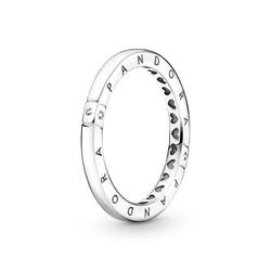 PANDORA 199482C01 Logo ring with zirconia
