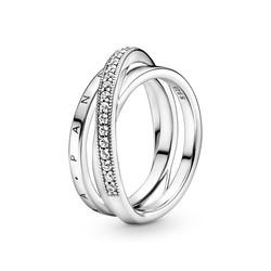 PANDORA 199057C01 Logo sterling silver ring