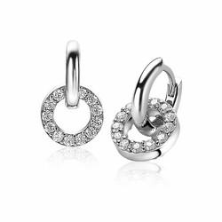 ZINZI Zilveren oorbedels zirconia ZICH2155
