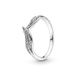 PANDORA 199533C01 Leaves silver ring