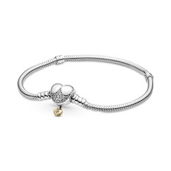 PANDORA 569563C01 Disney and Shine Princesses snake chain silver bracelet