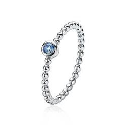 ZINZI zilveren aanschuifring bolletjes en blauwe zirconia's ZIR1900