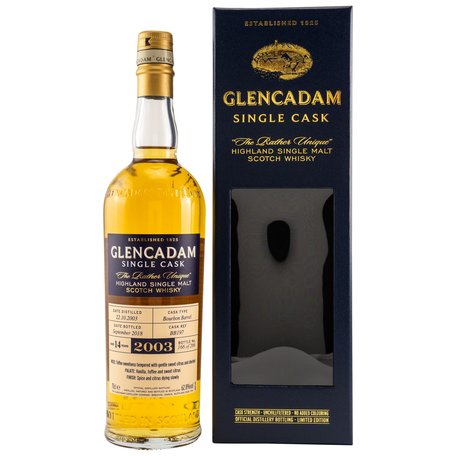 Glencadam 2003, 14 Year Old, Bourbon Barrel, Single Cask No. 197, 62.8%