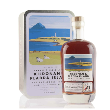 Arran 21 Year Old, Kildonan & Pladda Island, Explorers Series Vol.3, 50.4%