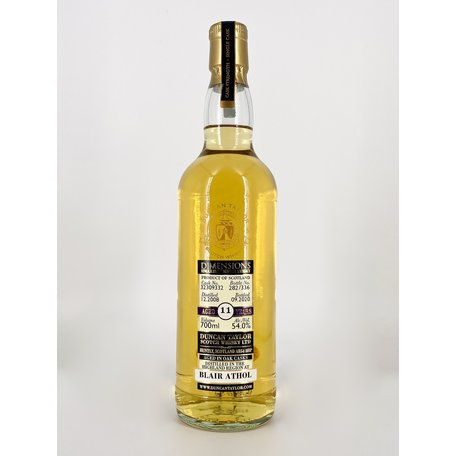 Blair Athol 11 Year Old, Duncan Taylor, Dimensions, 2008, 54%