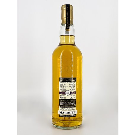 Macduff 11 Year Old, Dimensions, 2008, 54.1%