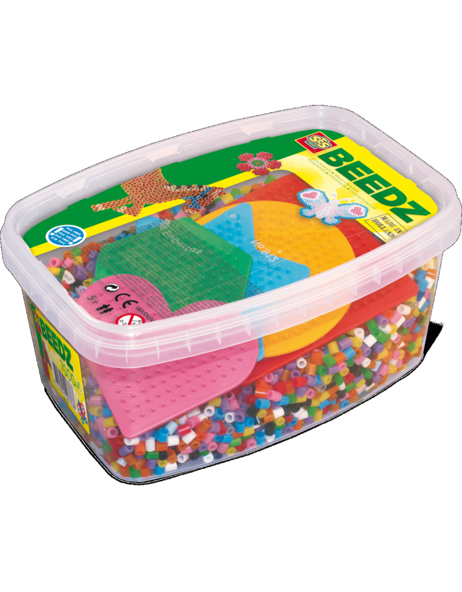 SES Creative Beedz - Iron on beads basic mix 7000 with 5 pegboards