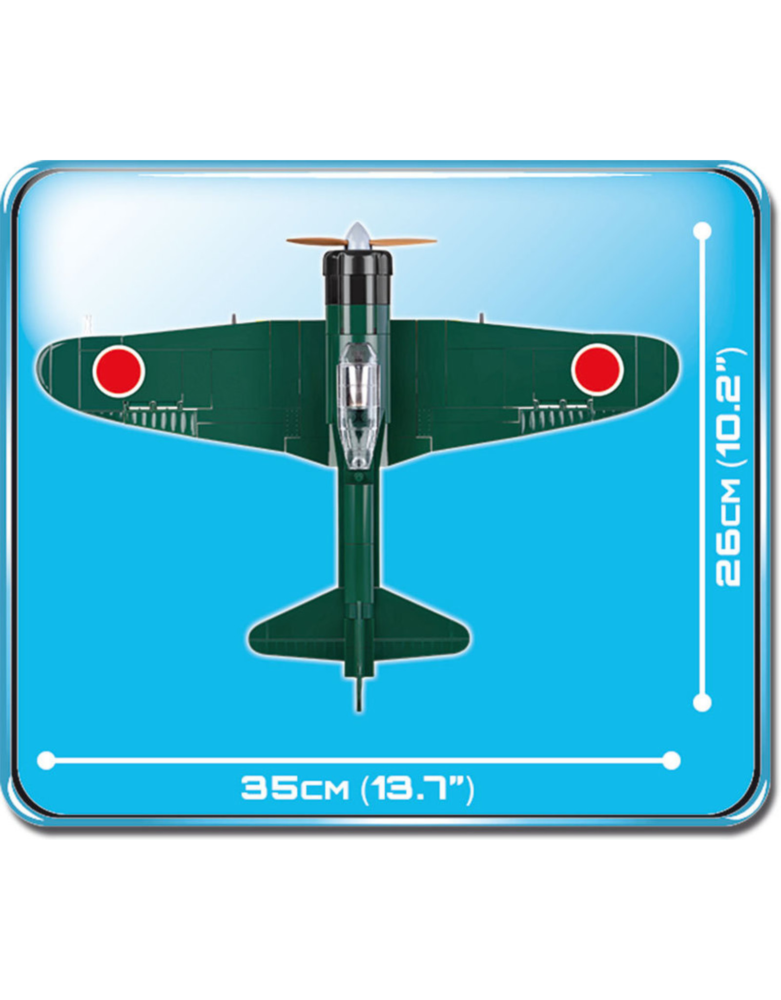 COBI COBI  WW2 5537 - Mitsubishi A6M3 Zero