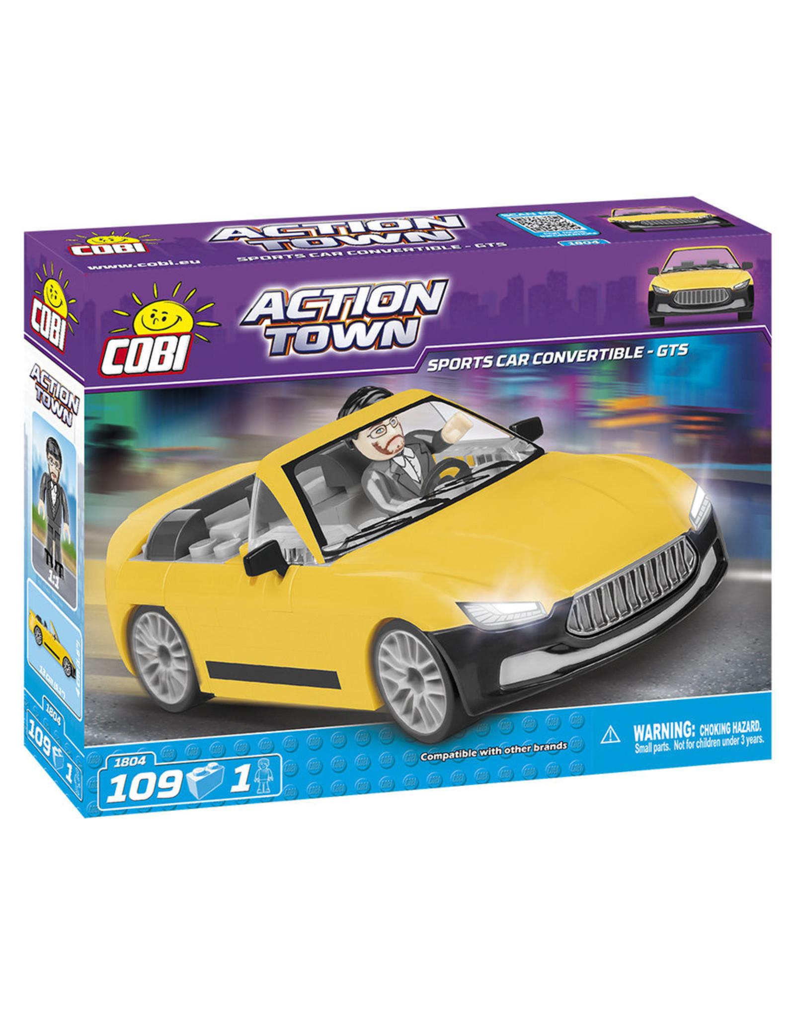 COBI COBI - Action Town 1804 - Sportcar Geel Cabrio
