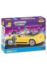COBI COBI - Action Town 1804 - Sportcar Yellow Convertible