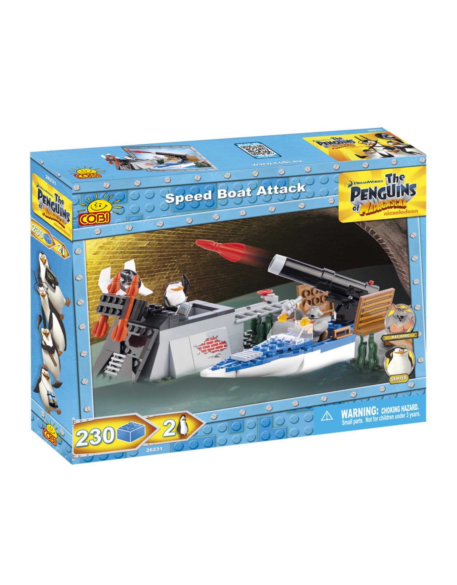 COBI COBI Penguins 26231 - Speed Boat Attack