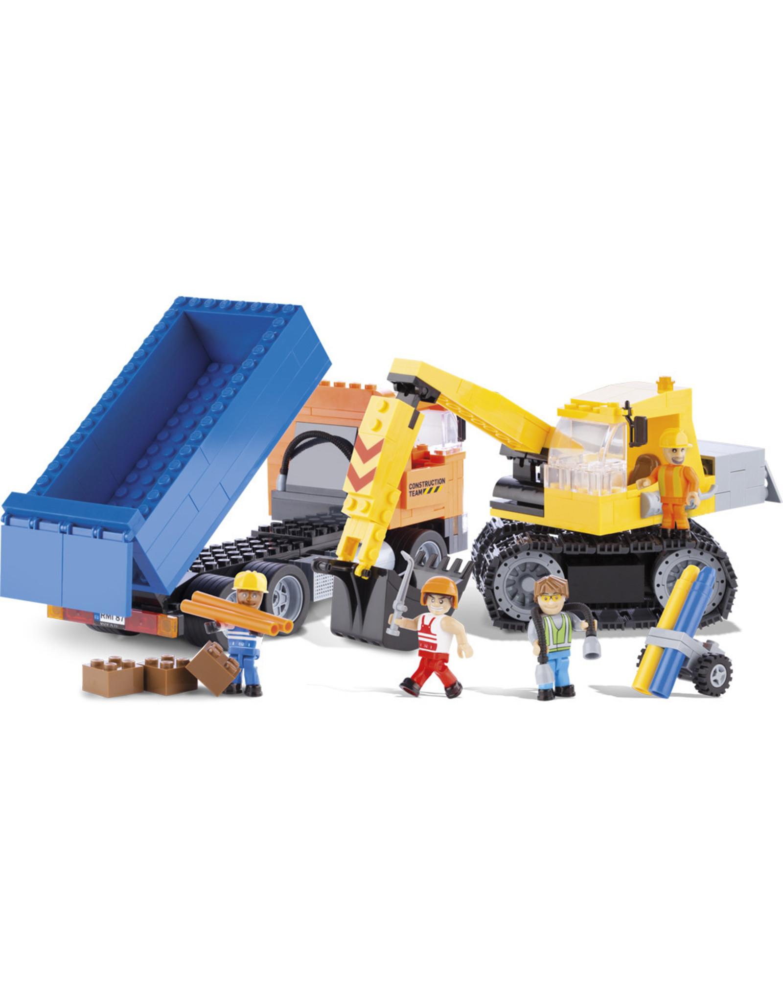 COBI COBI Action Town 1667 - Dump Truck and Excavator