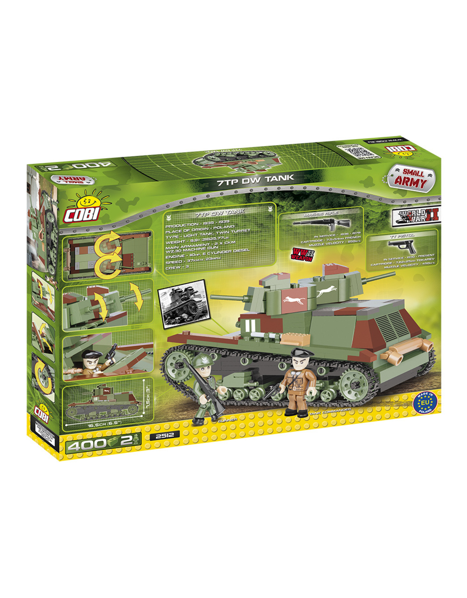 COBI COBI  WW2 2512 - 7TP DW Tank