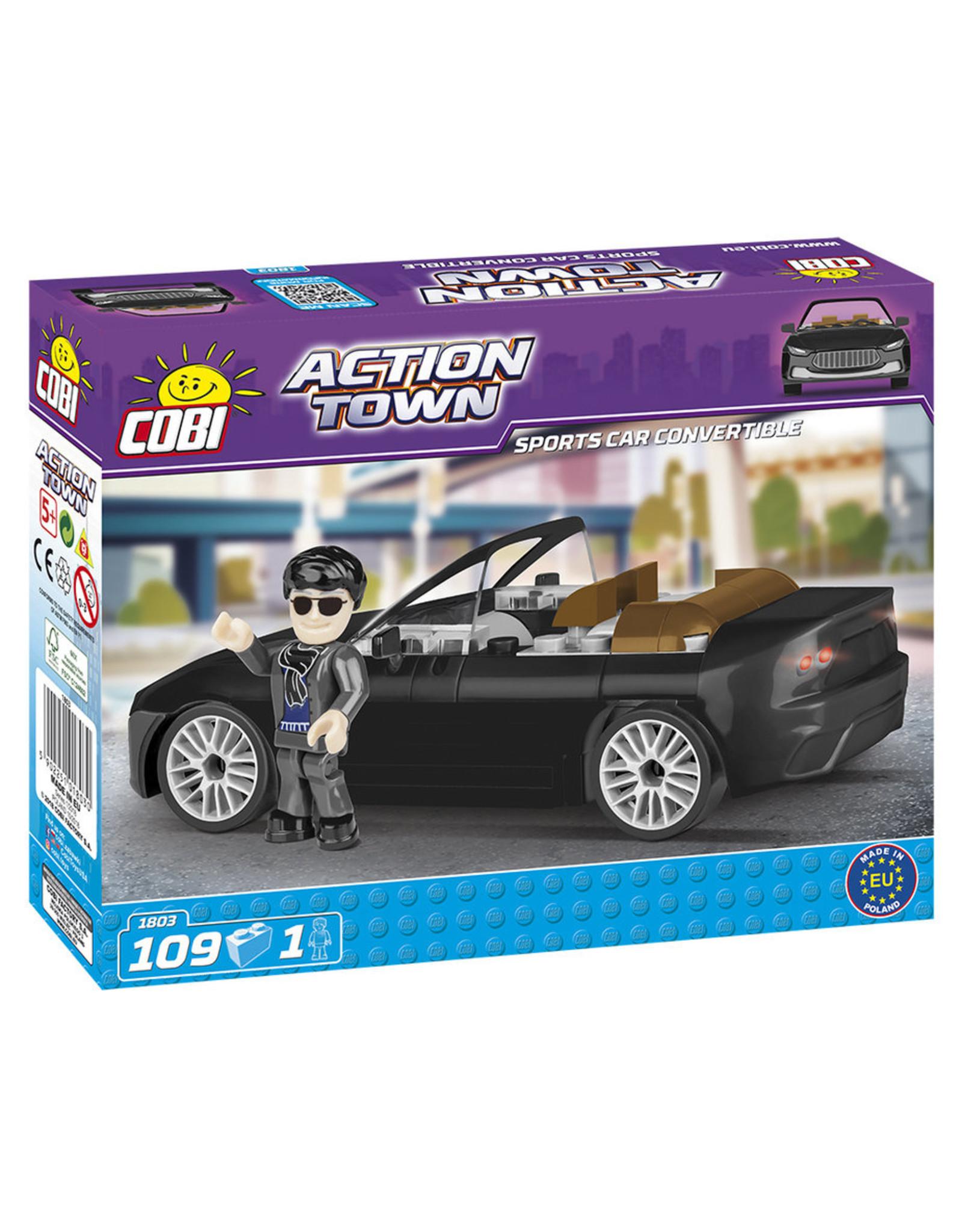 COBI COBI - Action Town 1803 - Sportscar Convertible Black