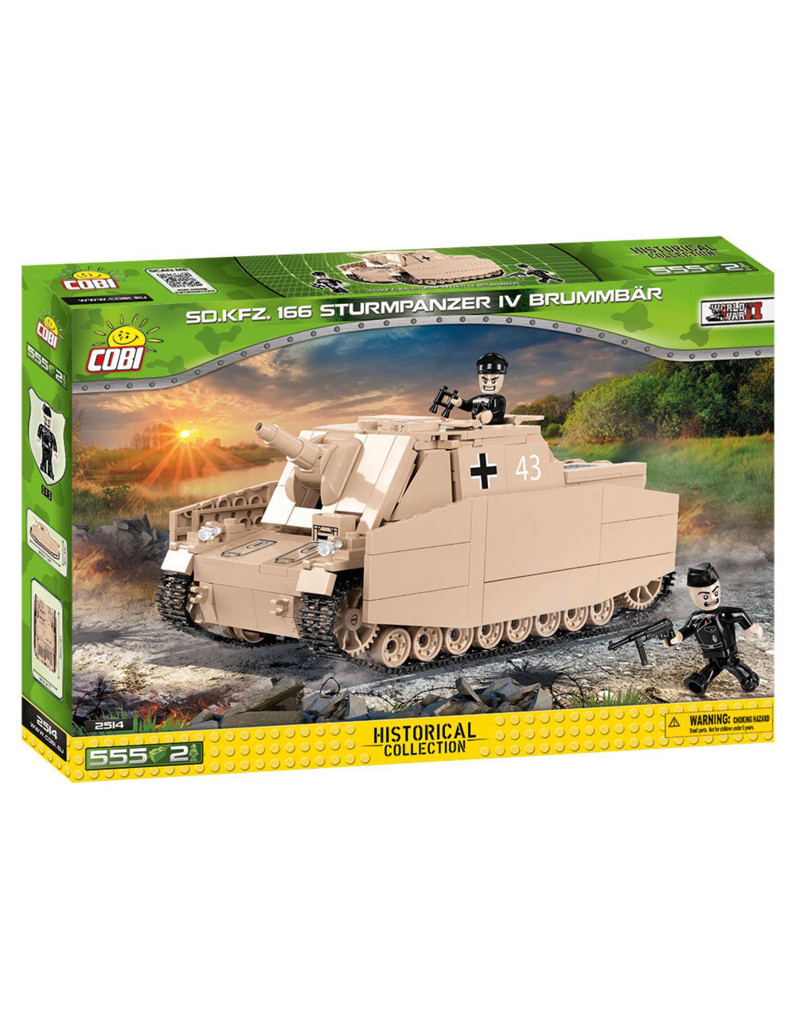 COBI COBI WW2 2514 - SD.KFZ166 Sturmpanzer IV Brummbar