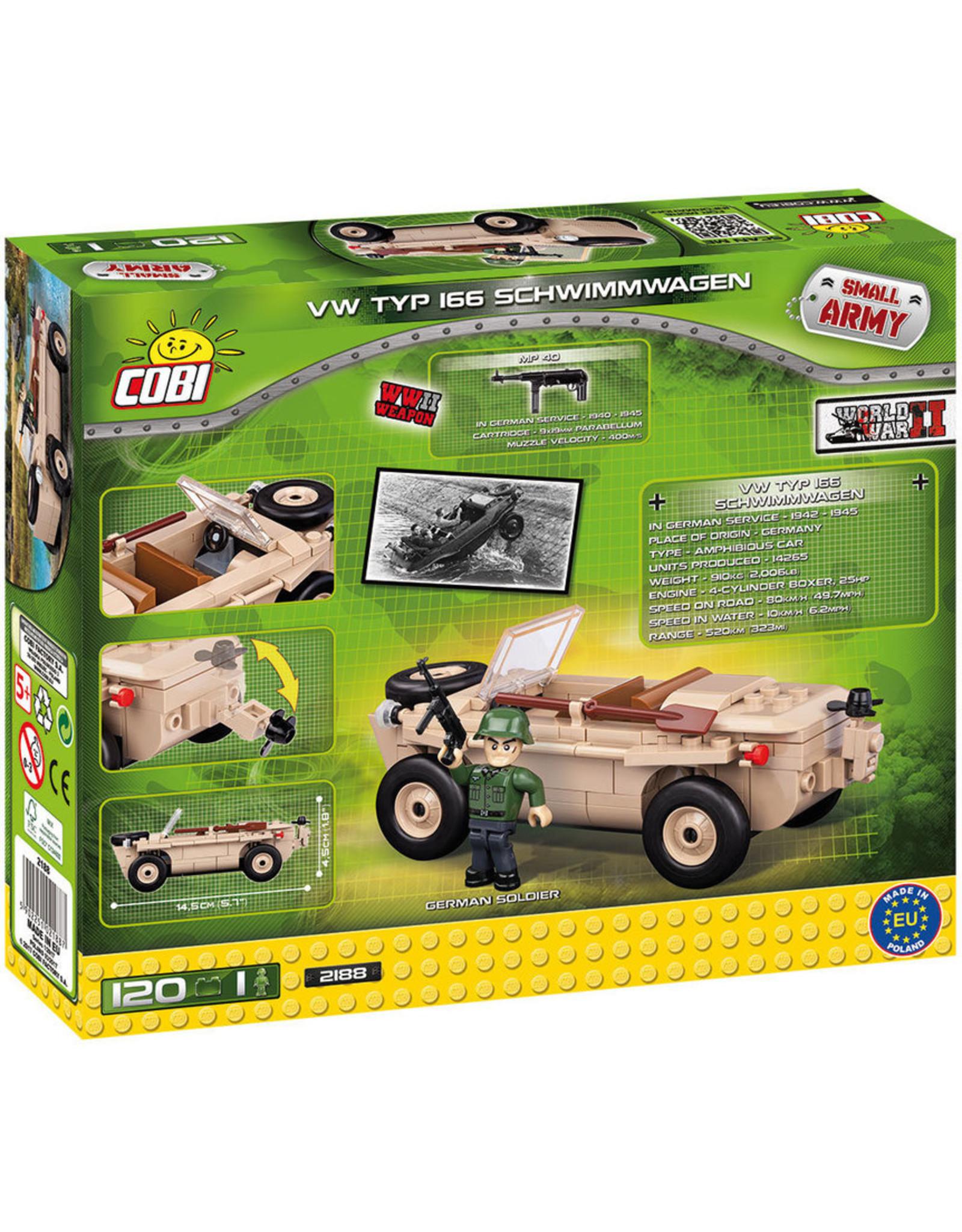 COBI COBI  WW2 2188 VW Typ 166 Schwimmwagen
