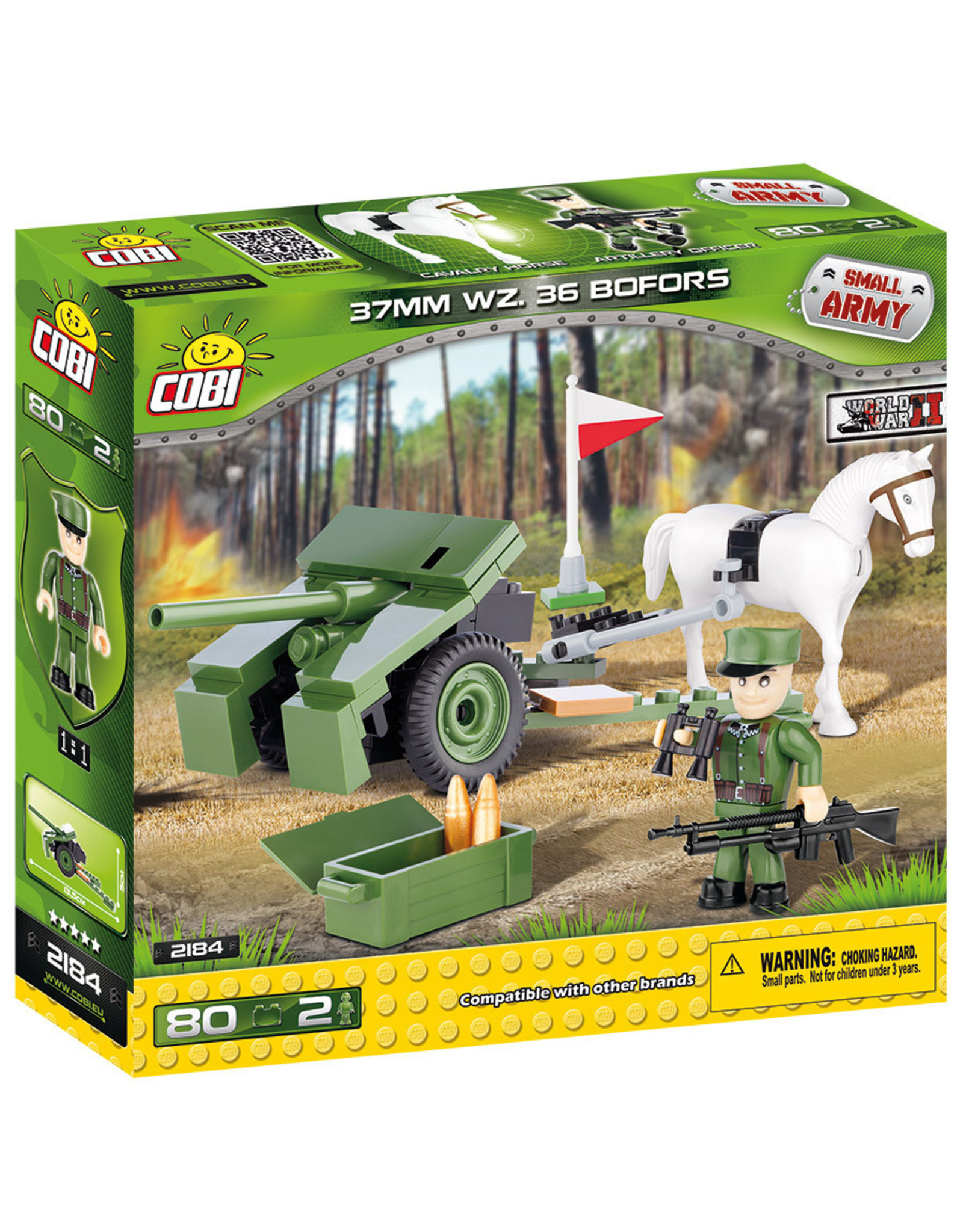 COBI COBI  WW2 2184 - 37mm WZ36 Bofors kanon