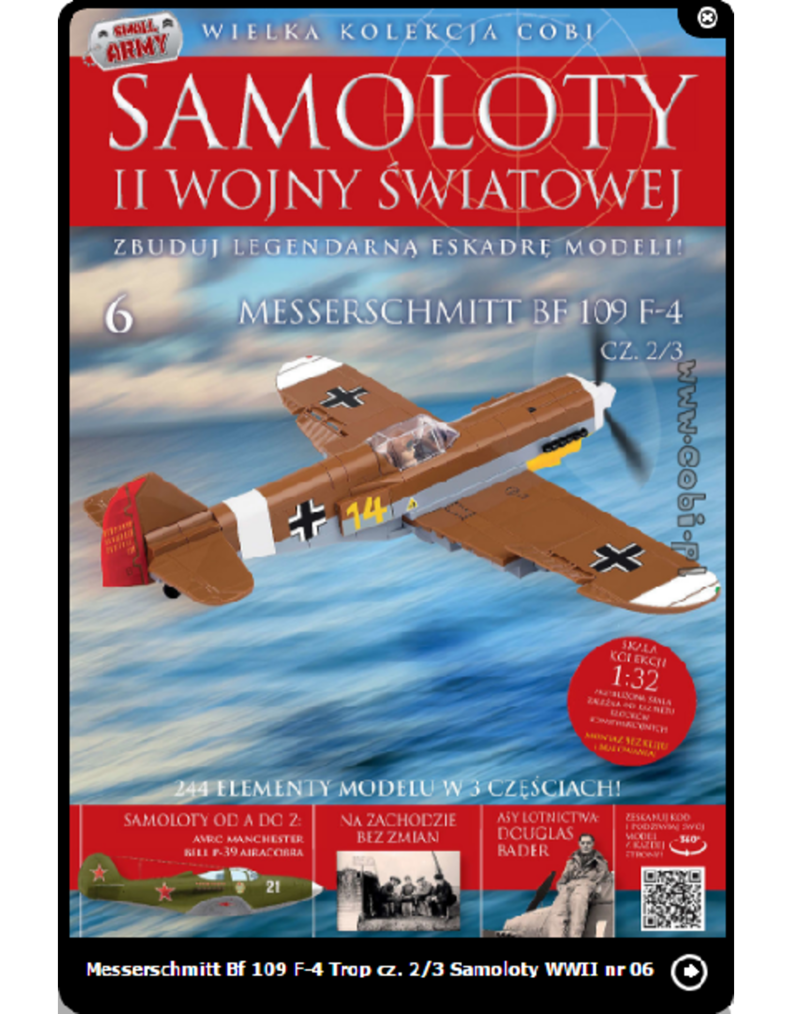 COBI COBI  WW2 Tijdschrift - nr 5-7 BF109 F4