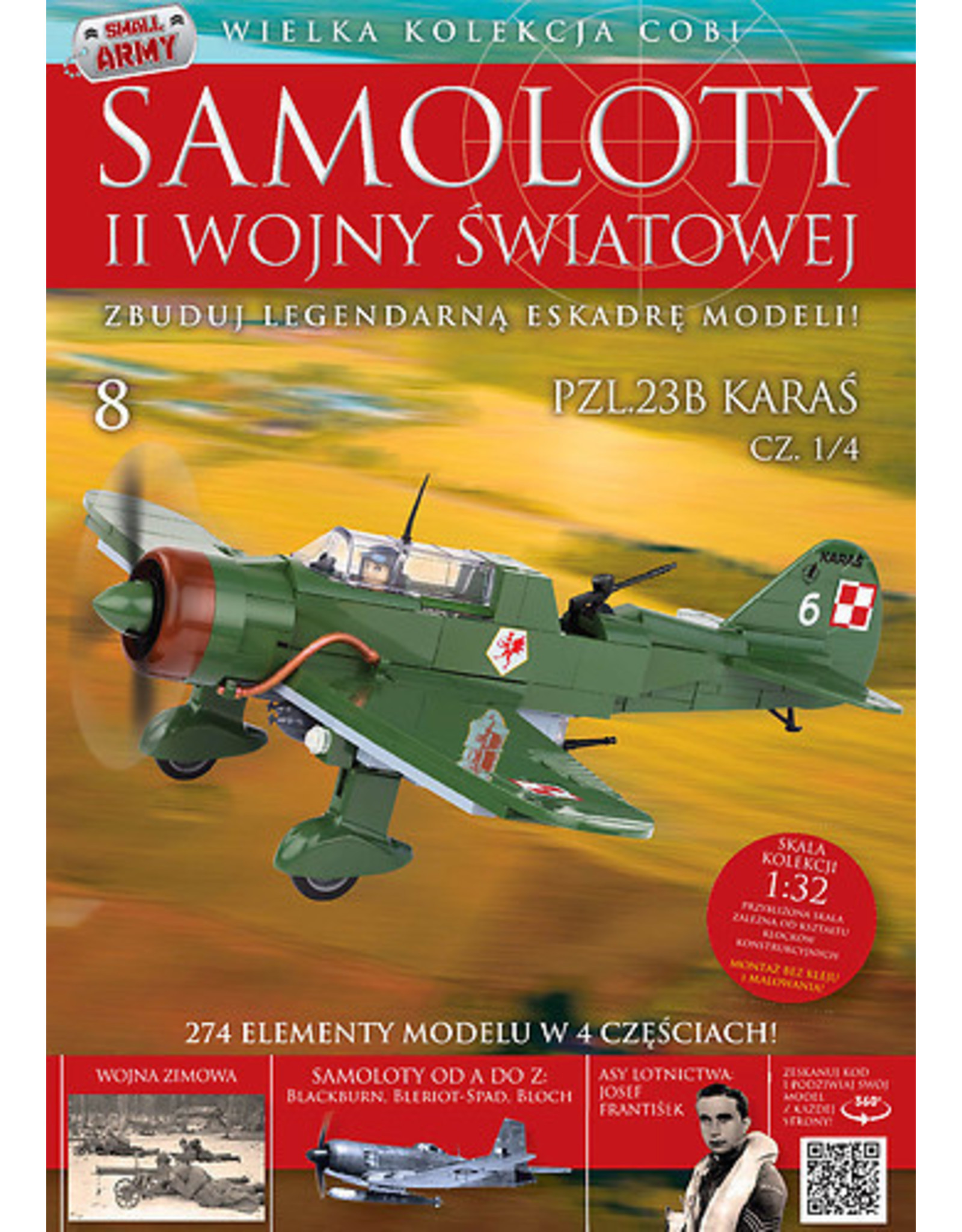 COBI COBI  WW2 Tijdschrift - nr 8-11 PZL23B Karas